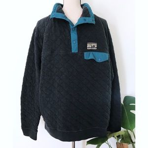 Patagonia Cotton Quilted Mixed Snap-T Sweater L